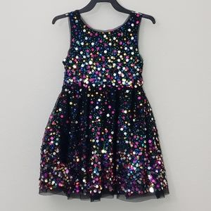 Cat & Jack girl sequin dress small 6 formal party